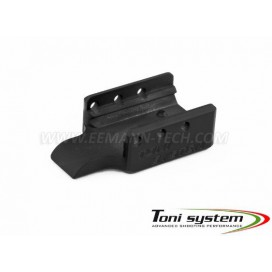 TONI SYSTEM COTGL19 Frame weight for Glock 19 in brass, black colour 100 gr