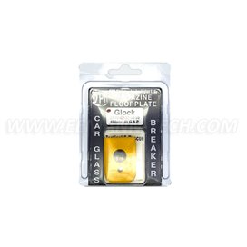 DPM MFPY-GL/2 Magazine Floorplate with Car Glass Breaker for GLOCK 21/30/37/38/39 Caliber .45 Auto/.45 G.A.P. Polymer Yellow