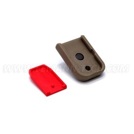 DPM MFPD-GL/1 Magazine Floorplate with Car Glass Breaker for GLOCK 9mm/.40S&W/357Sig Polymer Desert Tan
