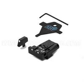 LPA SPR75CZ30 Adjustable Sight Set for CZ 75 (Brno Old Model) with White Dots